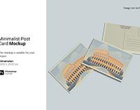 Minimalist Post Card Mockup