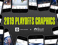 2019 NBA and NHL Playoffs graphics for NBCSAUTHENTIC