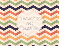Characters and  The Perfect Quote in their Movies