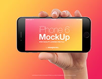 Female Hand with iPhone 6 Mockup