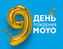 Concept Happy birthday, company MOYO.ua