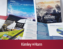 Kimley-Horn Marketing Collateral, Print Design