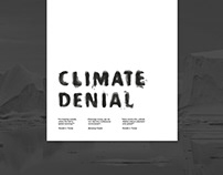 climate denial poster
