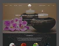 Lotus Spa - Single Page Web Site Design