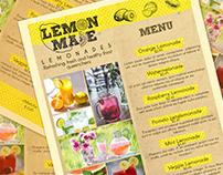 Menu Layout: Lemon Made