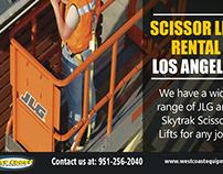 Scissor Lift Rental Los Angeles