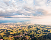 Aerial views from southern germany