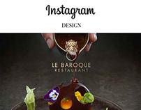 Design Instagram le Baroque restaurant