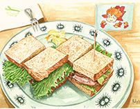 Travel Food Illustrations