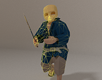 Low Poly Skull Samurai (Blender 3D)