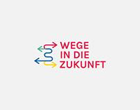 Wege in die Zukunft Logo Design