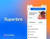 Superbro — mobile app for grocery delivery