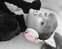Ariana Grande Cat-Ear Headphones | Times Square Ad