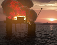 Oil Rig Explosion VFX and Breakdown