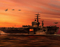 Carrier Ops at Dusk