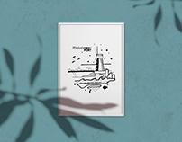Dot graphics | postcards