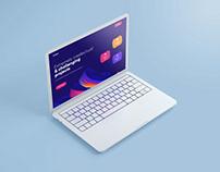 Free MacBook Pro Mockup 2020