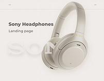 Sony Headphones Landing page
