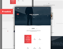 Freebie-Risky Business web & landing page design