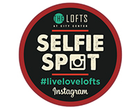 Selfie Spot Sticker Design