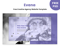 Evana - Free Creative Agency Website Template