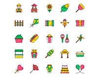 Festa Junina Icons Set