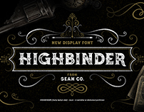 Highbinder Display Font (20% OFF)