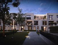 Hermann Strasse House - nightview