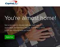 Capital One LoanHub Mortgage Responsive AngularJS, FED