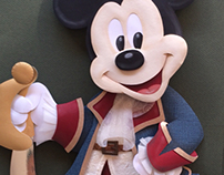 Pirate Mickey Paper Sculpture