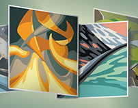 The 4 Elements in 8 Colors: Vector Illustration Series