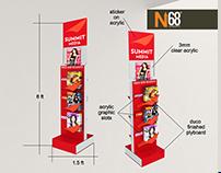 Summit Media Magazine Display Rack