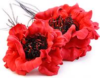 Handmade Flowers hairpin
