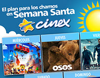 Cinex - Social Network Posts