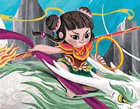 Nezha's Triumph Against Dragon King