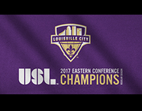 LouCity Eastern. Conf. flag waving motion graphic
