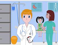 Hospital room Illustration.
