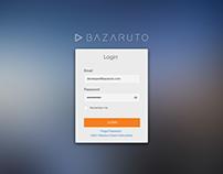 Bazaruto - Login Screens & Wireframes/Prototypes