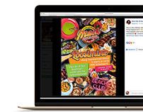 Mack BBQ Menu, Drink Card, Social Media Ads developing