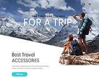 Travel Accessories Web UI Design