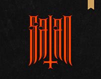 Satan - demonic lettering
