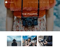 Photos 3 Columns - Photography WordPress Theme