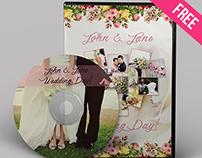 WEDDING CD/DVD COVER – FREE PSD BROCHURE TEMPLATE