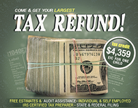 Free Tax Refund Service Template PSD