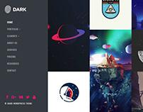 Dark WordPress Theme - Portfolio