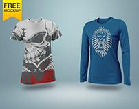 Free Realistic T-Shirt Mockup PSD