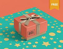 Gorgeous Free Gift Box Mockup PSD