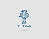 Egyptian logos and antique items