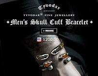 Skull Cuff Bracelet - Tyvodar.com