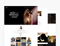 Photographer Website Template (PSD Freebie)